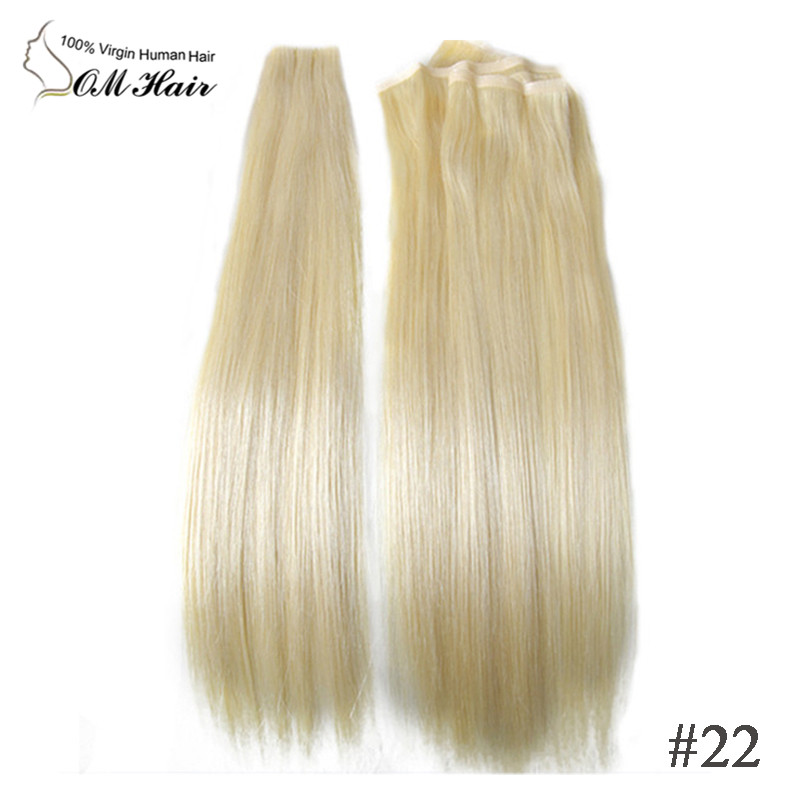 Top quality hair extension hand tied skin weft no shedding tape top quality hair extension hand tied skin weft no shedding tape hair silky straight european remy human hair light blonde 613 in skin weft hair extensions pmusecretfo Images