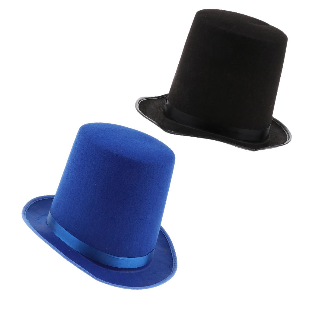 2939a8e9a Fun Plain Felt Satin Hat Circus Magician Cap Costume Dressing up Accessory  Favor for Men Women ~ ...