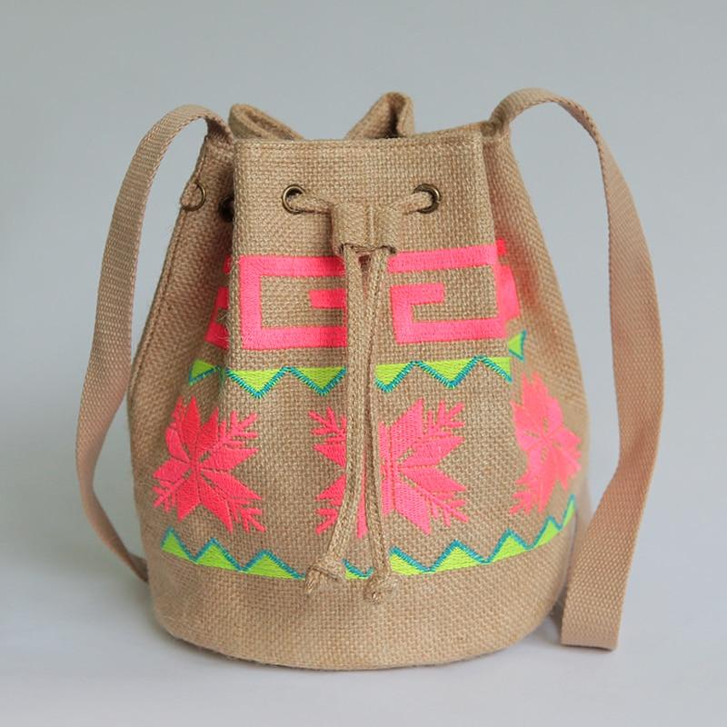 2017 women ethnic embroidery handbags designer hmong handmade bucket bag suede canvas vintage. Black Bedroom Furniture Sets. Home Design Ideas
