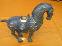 Chinese folk collection old bronze horse sculpture free shipping