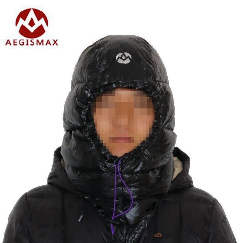 Aegismax Extérieure Duvet d'oie Blanche Chapeaux Camping de Couchage Bouchons Ultra Lumière Pour Enveloppe Sacs de Couchage D'hiver 2 Couleurs