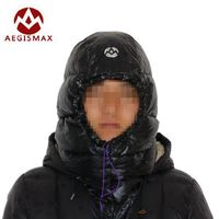 Aegismax Outdoor White Goose Down Hats Camping Sleeping Caps Ultra Light For Envelope Sleeping Bags Winter