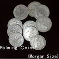 Palming Coins(Morgan Dollar Size Version) 10pcs/lot - Metal,Super Thin,Magic Trick,Gimmick,Accessories,Mentalism. Classic Toys