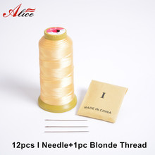 12pcs I Needle+1pc Blonde Salon Hair Weaving Thread/High Strength Polyester Thread for Brazilian/Indian hair Weave