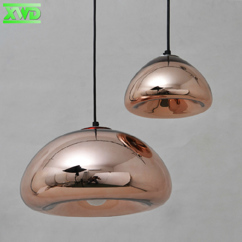 Modern Glass Plated American Pendant Lamp,Decoration For Coffee House/Dining Hall/Living Room,Copper Siver Golden Pendant Lights plastic standing human skeleton life size for horror hunted house halloween decoration