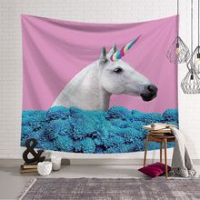 Funny Cartoon Pattern Wall Hanging Tapestry Hippie Bohemian Polyester Tapestry 3D Printed Home Decoration Blanket Yoga Mat waterproof bohemian graphic pattern wall hanging tapestry