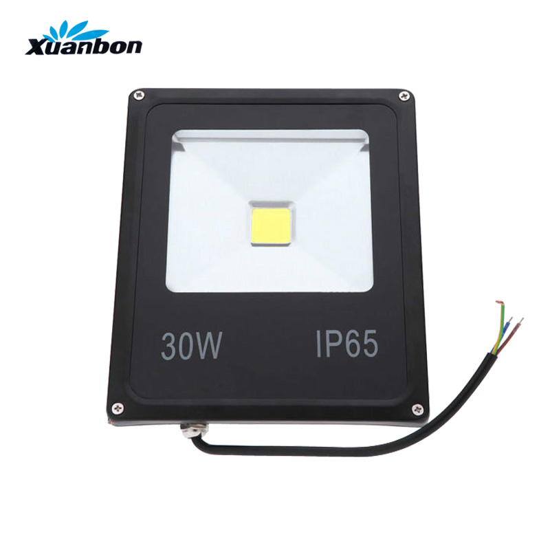 Ultrathin LED Flood Light 50W 30W 20W 10W IP65 Outdoor Floodlight Lamp Reflector AC110V 220V led Spotlight Garden light