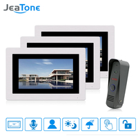 JeaTone 7 Wired Touch Screen Video Door Phone Doorbell Intercom System Home Security TFT LCD Monitor