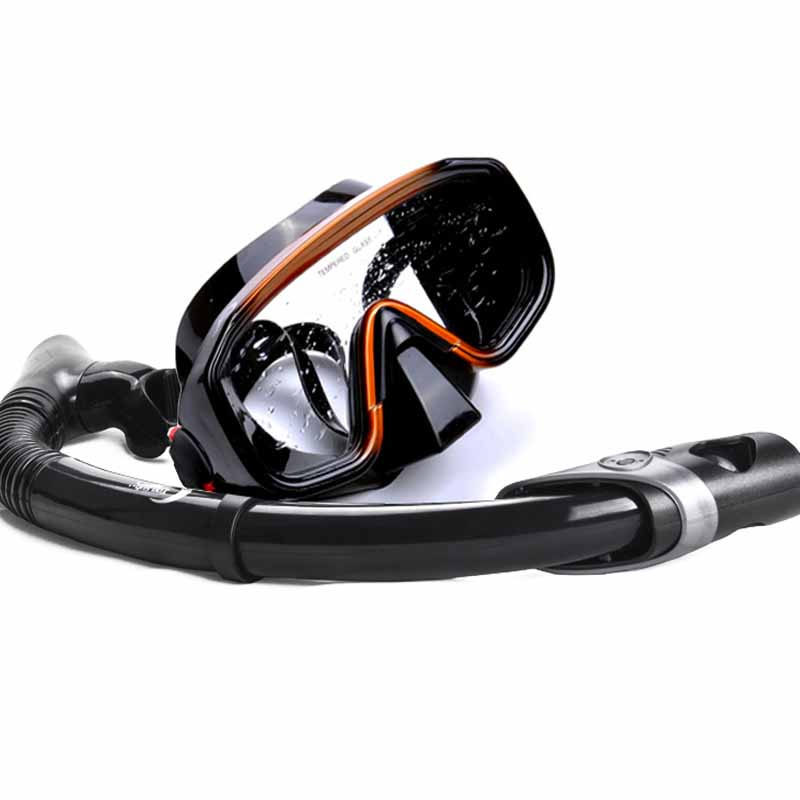 YonSub diving mask and snorkel kit wide view mask scuba dive snorkel sets swimming Silicone mask