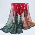 Мода шарф женщины шарфы шифон шарфы мягкая гладкая тонкий шелковый шарф для женщин phasmina оптовая женская шаль freeshipping