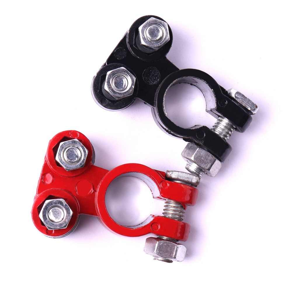55x30mm Red Black Aluminum Car Battery Terminals Connector Clamps Screw Connection Couple Positive and Negative Clips Connectors
