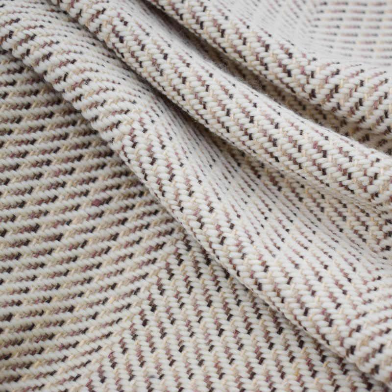 2018 新ファッションアプリコットウィービングウールツイード生地ドレスコートtelasポル地下鉄tissu auメートルtecidoテラ織物博物館みすぼらしいシックな