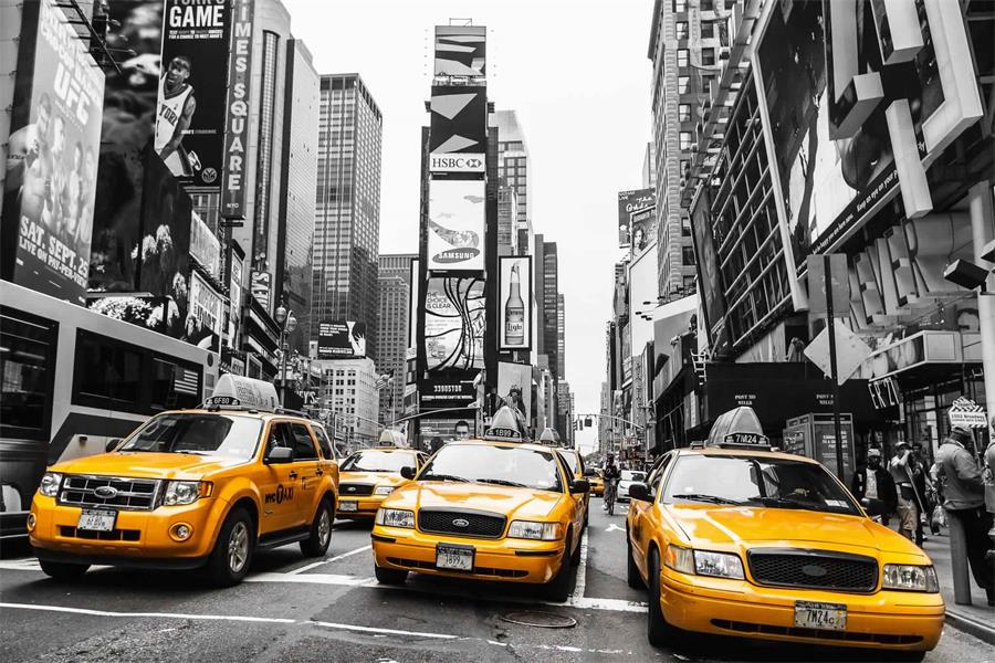 Poster New York Taxi.Custom Canvas Wall Decoals New York Poster The Ny Taxi No 1 Wall