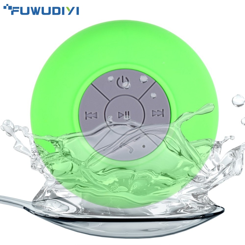 Mini Bluetooth Shower Radio Speaker Waterproof Wireless Bathroom Speakers Audio Receiver Music Player for iPhone Samsung Sony