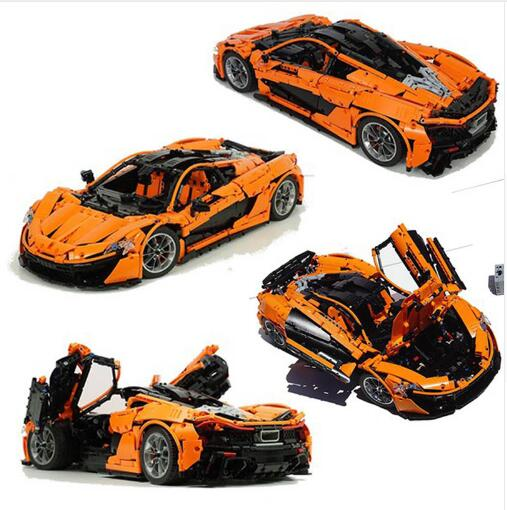 Technic Toys The MOC-16915 Orange Super Racing Car Set Building Blocks Bricks Toys Kids Christmas Gift Compatible With Legoings