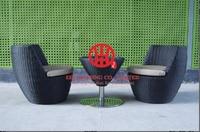 Плетеная мебель из ротанга сад круглый обеденный стол и стул набор для 10 человек, античная Дизайн мебель полой плетеная обеденный набор