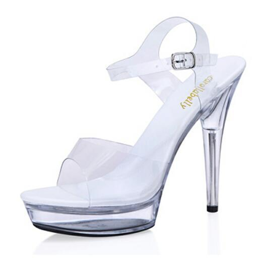 Товар Extra High Heels crystal Shoes Women Pumps sexy transparent 12 ... 6aa9b4cf166d
