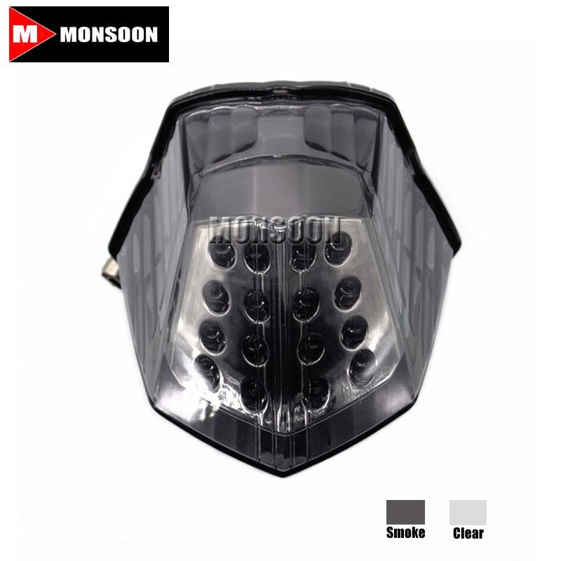 For YAMAHA XJ6 2009-2014 FZ6R 2009-2014 DIVERSION 600 09-14 Motorcycle Integrated LED Tail Light Turn signal Blinker Smoke