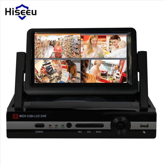 "CCTV 4ch 8CH 1080N Digital Video Recorder with 7"" LCD Screen Hybrid DVR HVR NVR Home Security System hiseeu"
