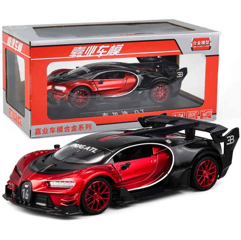 Модель автомобиля Bugatti GT, коллекция игрушек для мальчиков, 1/24