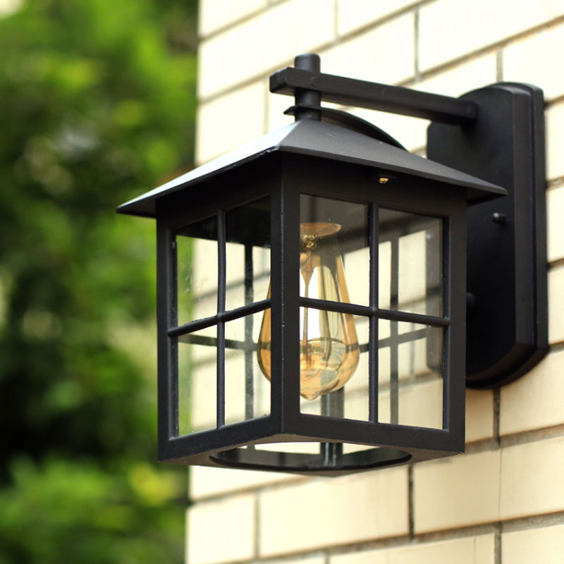 Wall Lamp American Country Style simple modern waterproof outdoor lamps retro nostalgia warehouse wall light цены