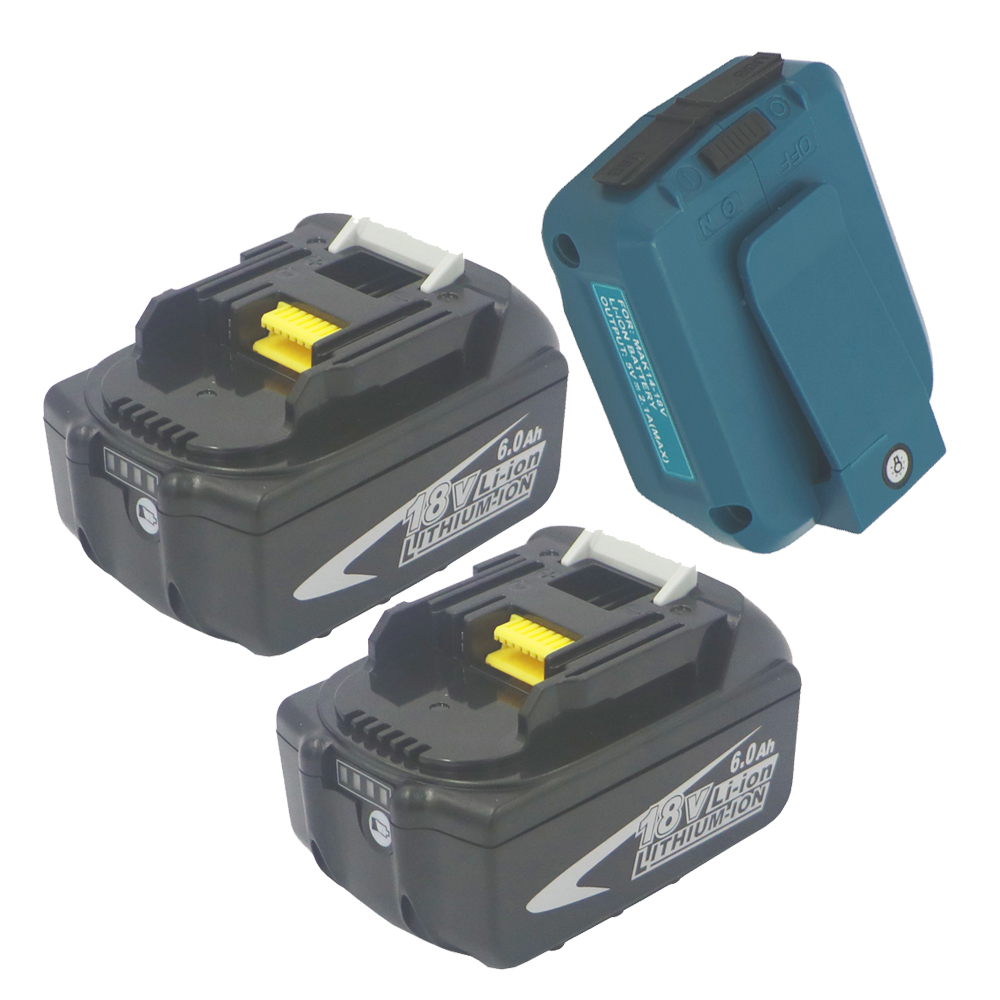 1pcs/2pcs 18V 6000mAH Replacement Power Tools Battery for Makita Bl1860 Built in 10Pcs Sony 18650 with USB Power source Adapter1pcs/2pcs 18V 6000mAH Replacement Power Tools Battery for Makita Bl1860 Built in 10Pcs Sony 18650 with USB Power source Adapter
