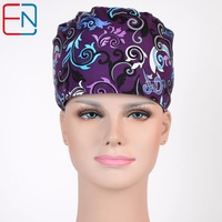 WOMEN Surgical Caps IN Purple SURGICAL SCRUB CAPS
