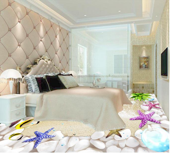 3d Mural Floor Shells Beach Wallpapers For Living Room 3d Pvc Vinyl Floor Murals 3d Stereoscopic Wallpaper papel de parede beibehang summer beach floor floor murals wall stickers 3d wallpaper for living room pvc floor self adhesive papel de parede 3d
