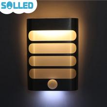 solled modern night light motion sensor activated led wall light battery operated bedside lamp for home bathroom mirror aisle