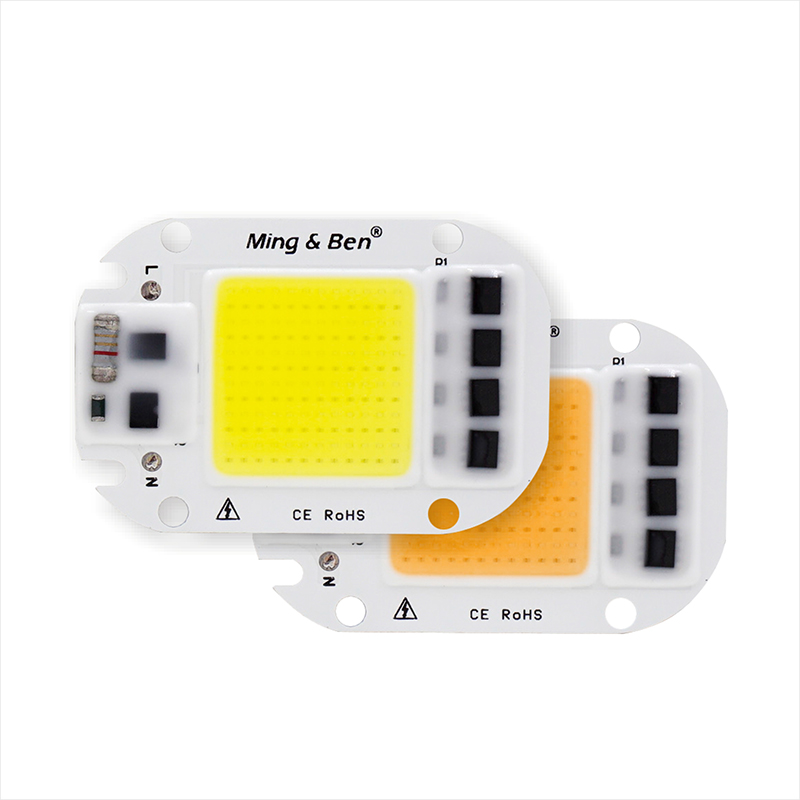 10pcs LED Bulb Lamp Chip COB 50W 30W 20W 5W 110V 220V Input Smart IC Driver Fit For DIY Cold Warm White LED Spotlight Floodlight [mingben] led cob chip 20w 30w smart ic 220v 110v input ip65 integrated driver easy to diy for floodlight cold white warm white