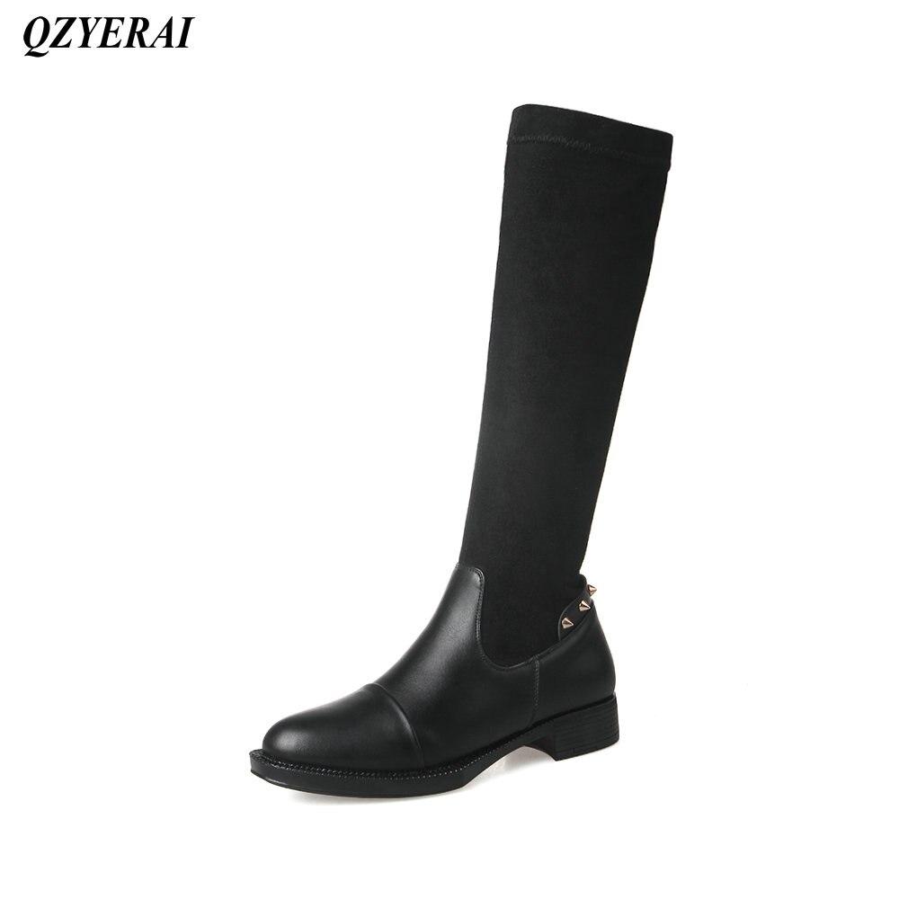 QZYERAI Winter Europe tight ladies boots font b womens b font font b shoes b font