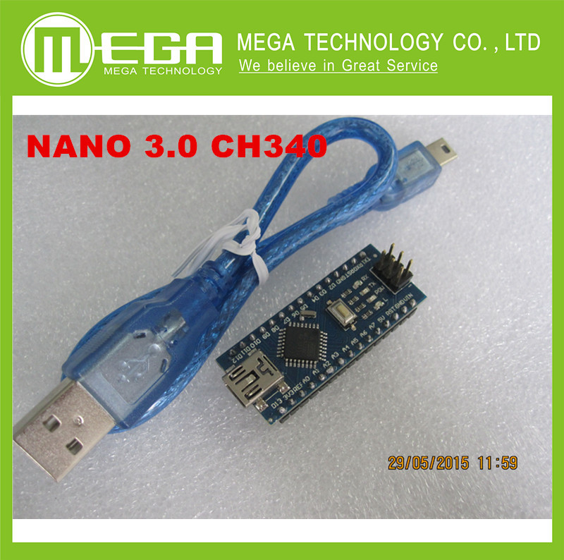 1pcs Nano 3.0 controller compatible nano CH340 USB driver  NANO V3.0 NANO 3.0  with CABLE