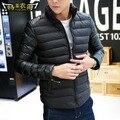 T barato de china al por mayor 2016 Otoño invierno nuevo diseño masculino chaqueta de algodón acolchado chaqueta de algodón acolchado ropa de los hombres capa delgada