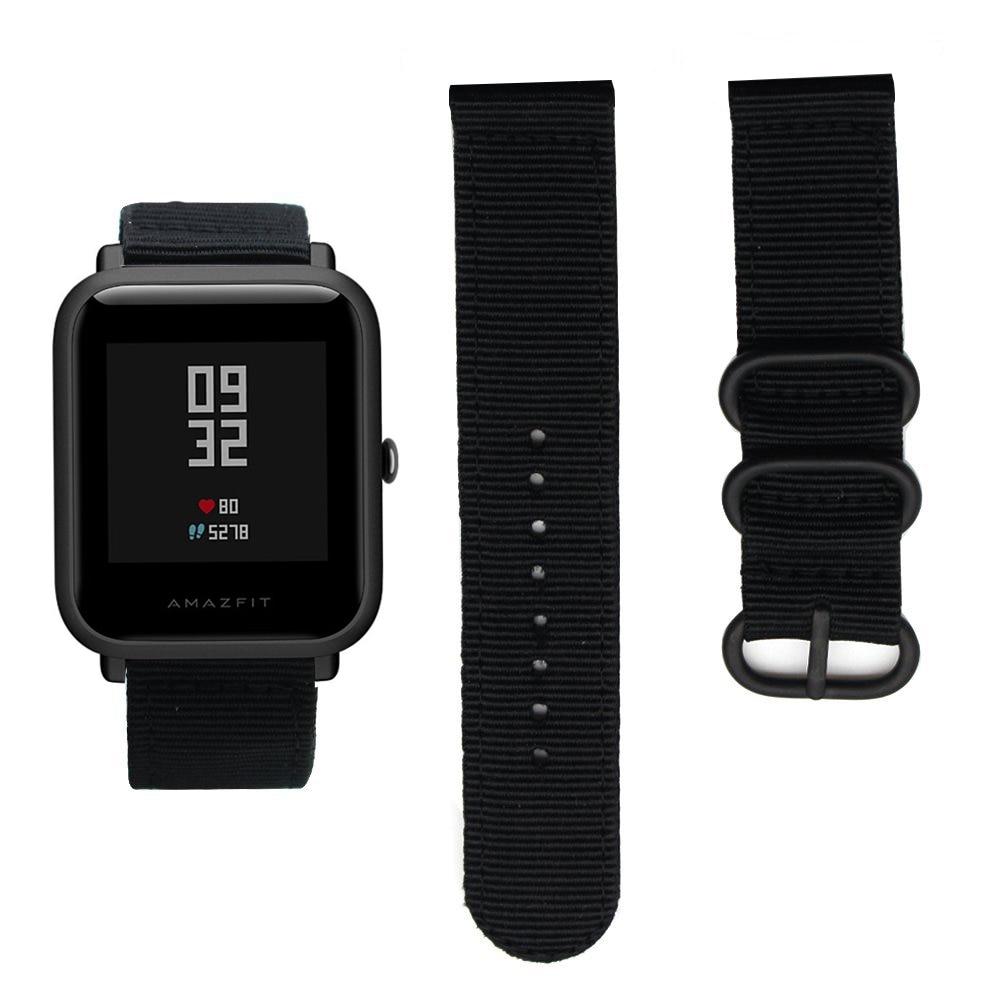 743dd478729 Pulseira de Couro genuíno Preto Para Xiaomi Huami Amazônia Bit Juventude  acessórios Clássico Pulseira de relógio Inteligente 22 milímetros Pulseira  de ...