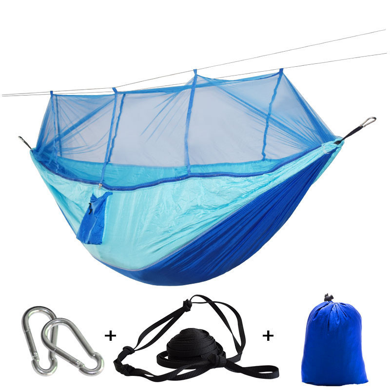 Sports & Entertainment Camp Sleeping Gear Steady Profession 7 Colors Carrying Nylon Cloth Parachute Hammock Garden Camping Survival Hunting Leisure Travel Hammock Double 270*140