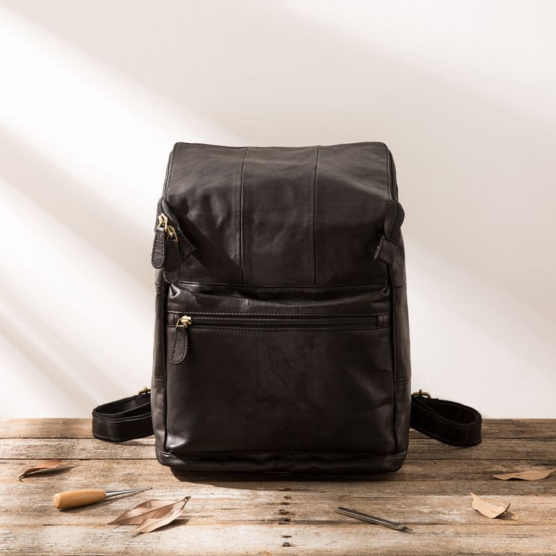 Genuine Leather Men Laptop Back pack Travel Casual Business Male computer Luxury Waterproof  Soft Cow Skin Daypack Backpack Genuine Leather Men Laptop Back pack Travel Casual Business Male computer Luxury Waterproof  Soft Cow Skin Daypack Backpack