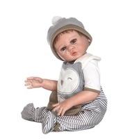NPK 50 55cm Lifelike Reborn Doll Kit Silicone Baby Newborn Dolls for Kids Playmate Birthday Gift M09
