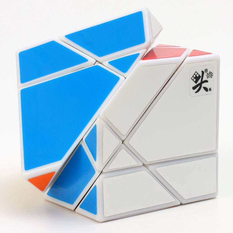 DaYan Tangram Puzzle Cube White Balck Stickerless Puzzle Speed Cubes Cubo Magico Educational Special Toys Free Shipping