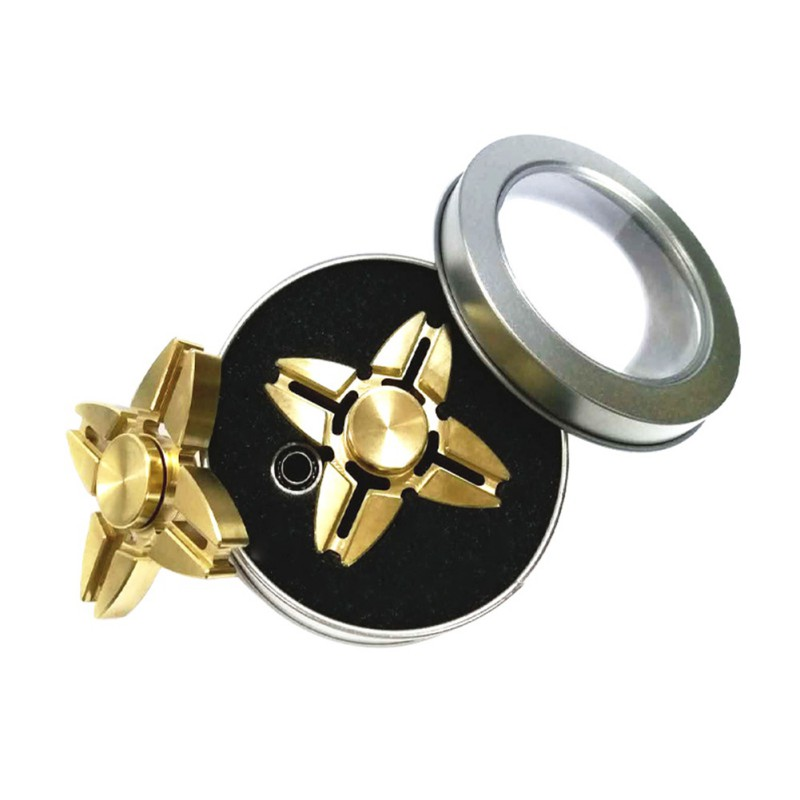 New Brass Hand Spinner Fidget Spinner And DHD Adults Kids Toy Gold Tri-Spinner Fidget Cool Toys