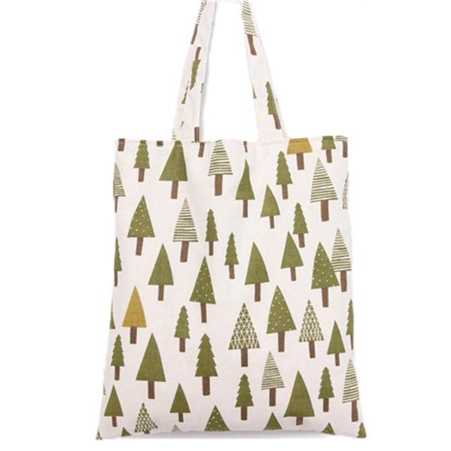 2017 New Style Simple Mori girl cotton bag Fashion Famous Designers Brand handbags tree printing Women canvas Shoulder Tote Bags