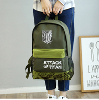 The New Cartoon Around The Attack On Titan Backpack Fashion Men And Women Canvas Leisure Backpack