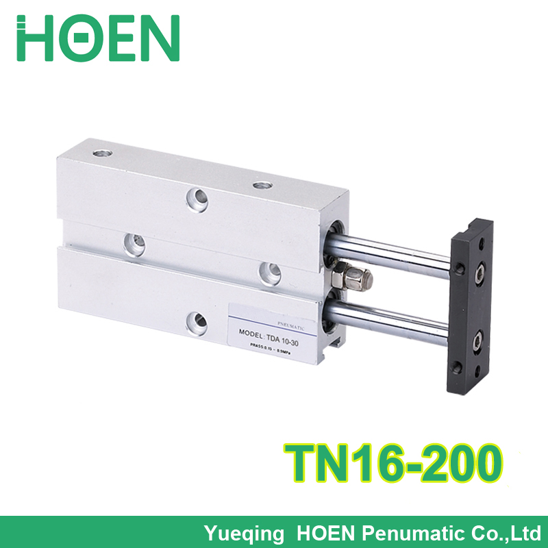 TN16-200 TN series dual rod double action Pneumatic Cylinder TN TDA Twin Spindle Air Cylinder TN 16*200 TN16*200 tn 16-200 tn16 125 twin rod air cylinders dual rod pneumatic cylinder 16mm diameter 125mm stroke