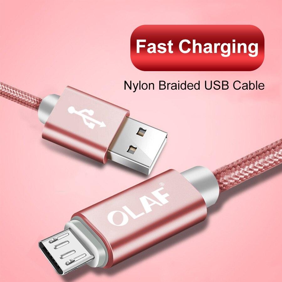 OLAF Nylon Braided Micro USB Cable for Samsung Galaxy S7