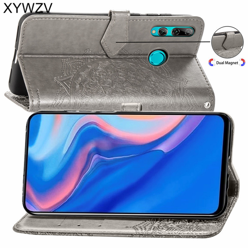 Image 3 - Huawei Y9 Prime 2019 Case Shockproof Popular texture Soft Silicone Phone Case Card Holder Fundas For Huawei Y9 Prime 2019 Cover-in Flip Cases from Cellphones & Telecommunications