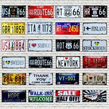 Route 66 License Plate Metal Number Plaque Tin Sign Wall Pub Shop Home Garage  Craft Art Decor Poster 30X15CM B-6
