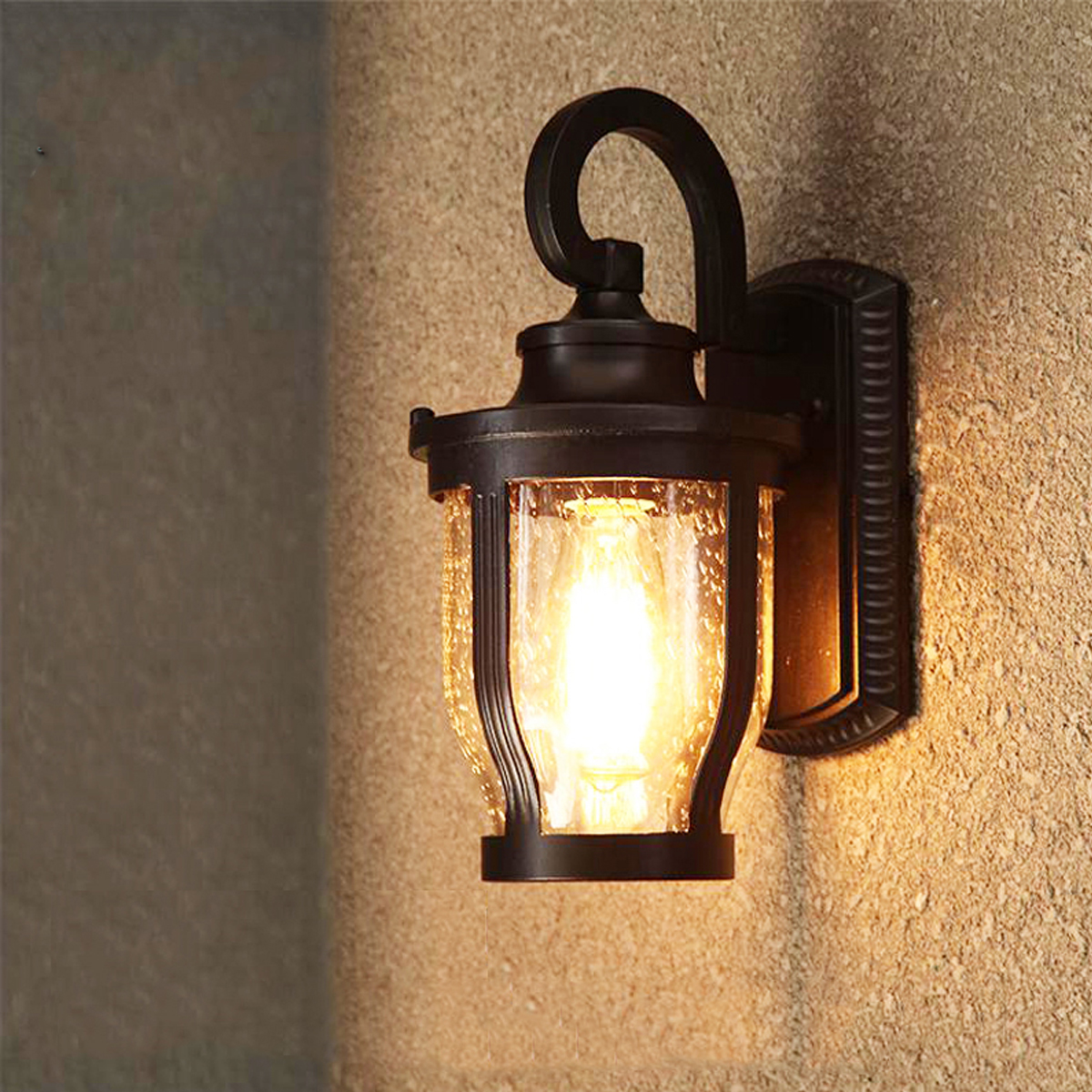 Black/Bronze Vintage Outdoor Wall Lights For Porch Garden Pathway Bar Wall Sconce Aluminum Industrial Lighting LED Lamp