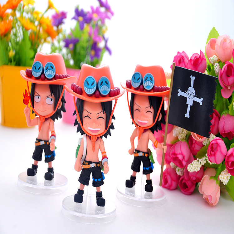 3Pcs/Lot Anime Figures Toy POP <font><b>ONE</b></font> <font><b>PIECE</b></font> <font><b>Zero</b></font> <font><b>Fighting</b></font> <font><b>Cross</b></font> <font><b>Fire</b></font> Portgas D Ace Children Toys Adult Kids Birthday Christmas Gift