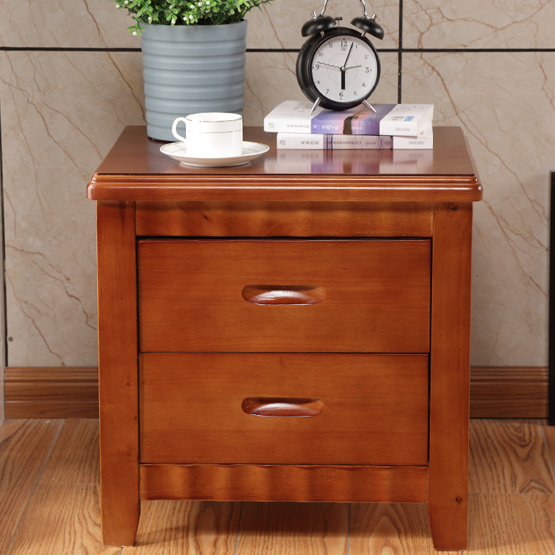 Bedside table solid wood contracted and contemporary advocate lie the  bedroom cabinet type while ark mini