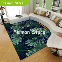 Household green Nordic living room simple ins wind sofa simple modern carpet leaves bedroom simple coffee table mat
