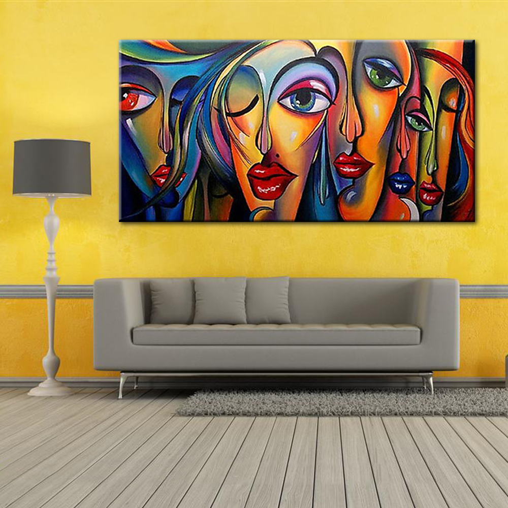 Modern Pop Art Sexy Women\'s Faces Oil Painting People Portrait ...